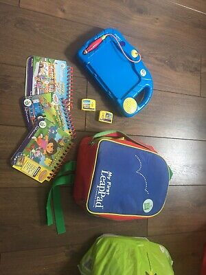 My First Leappad Leapfrog Learning With Backpack, Games, Books **For Parts • 3£