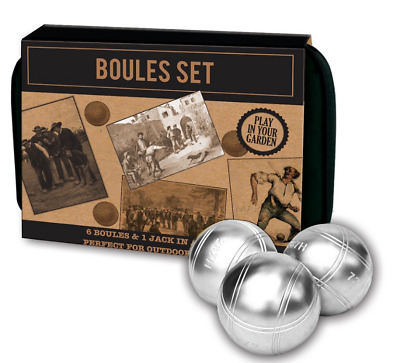 6 Ball Boules Set In Canvas Bag • 10£