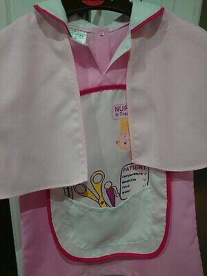 Girls Dressing Up Set NURSE EARLY LEARNING SIZE 3 - 4 YEARS WITH CAPE • 1.99£