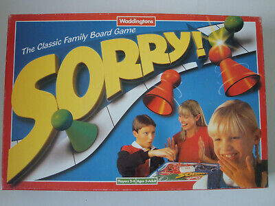 Vintage 1997 Waddingtons SORRY! Board Game Family Fun! Age 5+ 100% Complete • 8.40£