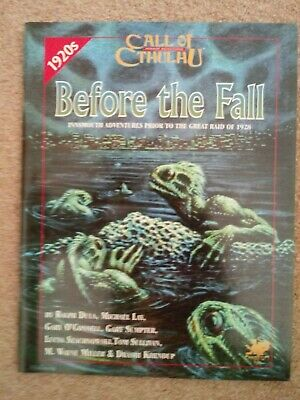 Call Of Cthulhu RPG - Before The Fall-Very Good/Excellent. • 26.99£
