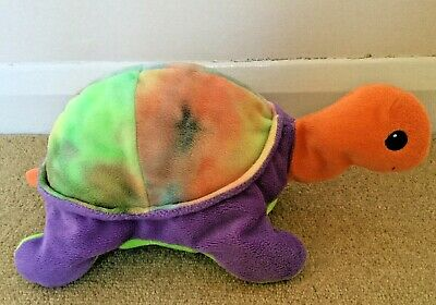 RARE TY 1998 Pillow Pal Snap The TORTOISE PLUSH Rainbow Multicoloured Soft Toy • 9.99£