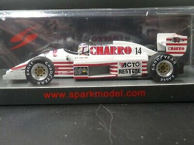 Spark 1:43 Pascal Fabre AGS JH22 British GP F1 1987 New S7235 Resin • 46£