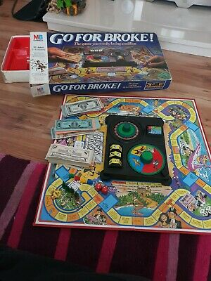 Go For Broke Mb Board Game Used Playable Condition  • 2.50£