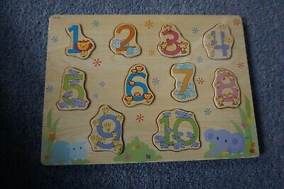 Childrens Wooden Numbers Puzzle Educational BNWT • 2£