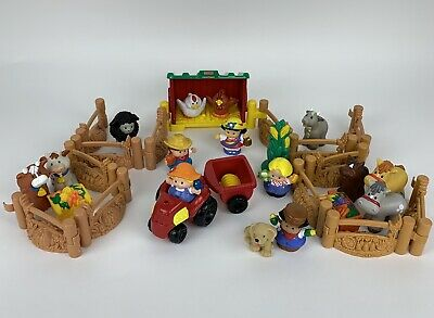 Fisher Price Little People Farm Ranch Petting Zoo Animals People Tractor Bundle • 24.99£