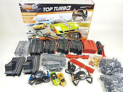 TURBO Racer Deluxe Racing Track Slot Car Set Kids Pack RC Toy Fast Car Hot Craze • 57.99£