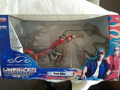 Orange County Choppers OCC AMERICAN CHOPPER 1/10 SCALE. TOOL BIKE . BNIB • 10£