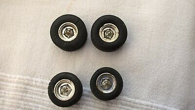 Scalextric 4 X Wheels & Tyres  Javelin Electra Used Condition Rare Item L@@K ! • 5£