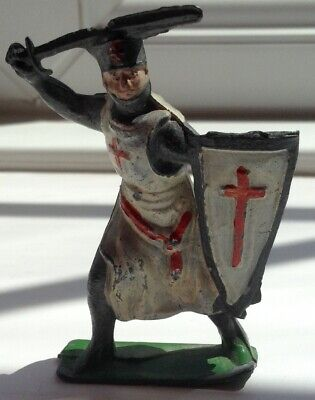 Vintage Cherilea - Crusader - Medieval Figure In Hollow Cast Lead • 14.95£