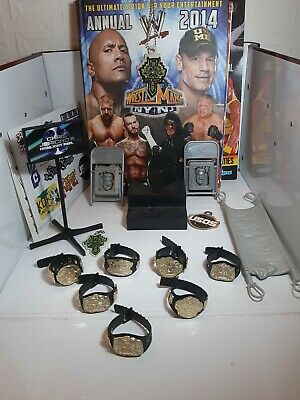 WWE Accessories Joblot, Including Belts, Books, Stickers And Props  • 9.99£