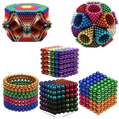 5mm Magnetic Magic Beads 3D Puzzle Ball Magnetic Toys Balls Gift-UK Based • 12.99£