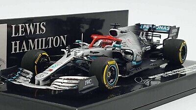 Minichamps 417190644 143 2019 Mercedes W10 Lewis Hamilton Winner Monaco GP Model • 99.99£