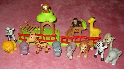 Large Bundle Zoo Animals Approx 2 - 4 Inches Age 18 Months + • 10£