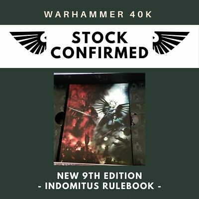 40k 9th Edition Rulebook - Indomitus - New  • 17.50£