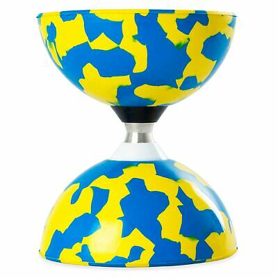 Blue/Yellow Juggle Dream Jester Bearing Diabolo (COMES WITHOUT STICKS) • 16.99£