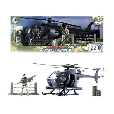 World Peacekeepers Combat Helicopter Playset With 2 Figures - Tracked Post • 21.99£