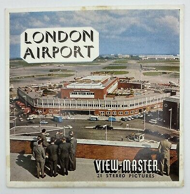 LONDON AIRPORT ENGLAND VIEWMASTER REELS SET C283 1960's RARE EX Condition • 39.99£
