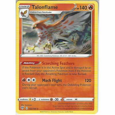 Pokemon 032/189 Talonflame Rare Sword & Shield Darkness Ablaze Trading Card Game • 0.99£