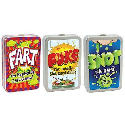 Fart, Snot & Puke Card Games Funny Kids Family Game • 5.99£