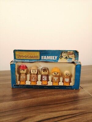 RARE Vintage Matchbox Live-n-Learn Family Figures Toy Boxed Never Opened 1973 • 39.99£