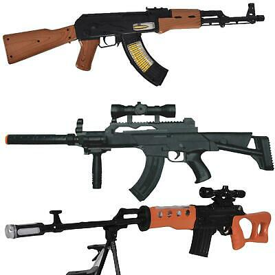 Kid Toy Military Gun Super Combat Rifle Flashing Light Vibration Realistic Sound • 13.99£