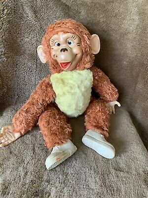 Vintage Rubber Face And Hands Monkey Approx 17 Inch • 25£