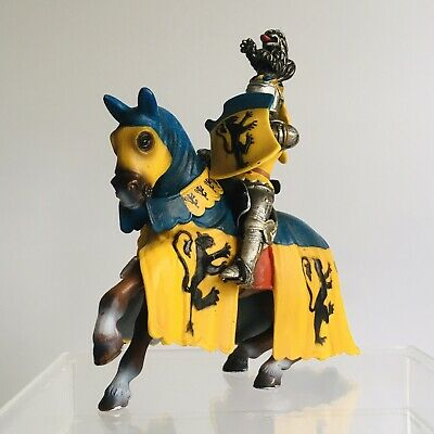 Schleich Mounted Blue And Gold Jousting Knight On Horse Model Toy Figure • 14.50£