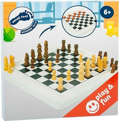 Small Foot Chess And Draughts Board Game Parlor Games 11395 Toy  • 11.99£