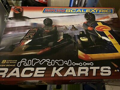 Scalextric Micro G1120 Karts 164 Scale Race Set • 39.99£