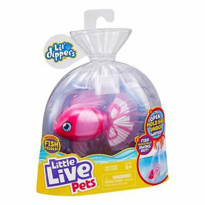 Little Live Pets Lil' Dippers Series 1 - Pink Bellariva Swimming Fish Water Toy • 15.49£