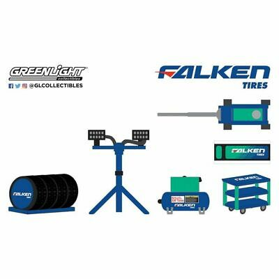 Falken Tires And Shop Tools Accessories,Scale 1:64 By Greenlight • 7.99£