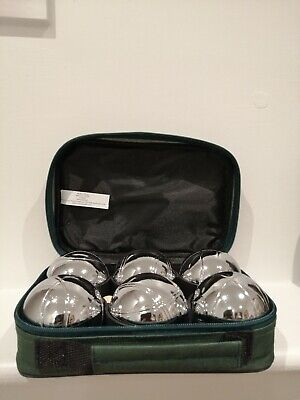 6 French Ball Stainless Steel Boules Set Game With Carry Case- Brand New • 50£