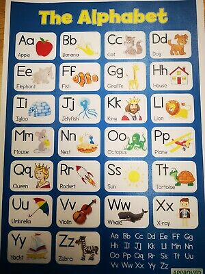 ALPHABET Educational Poster Laminated For Kids  • 3.49£