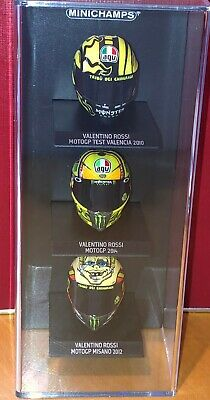 Minichamps 1:10 Valentino Rossi Helmet Collection Display Case (holds X 3) • 10£