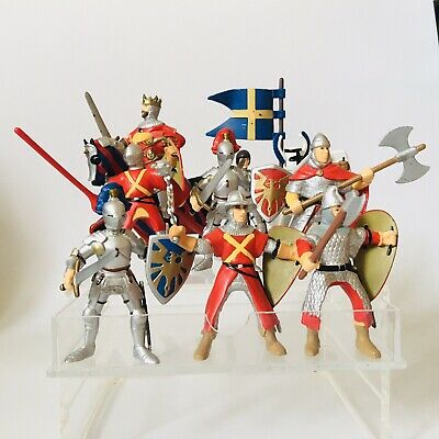PAPO Soldiers Knights Bundle X9 Toy Model Figures And Horse • 24.50£