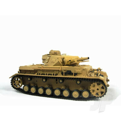 Henglong 1:16 German Panzer IV F1 RC Tank Shoots Plastic BB's With Smoke And Sou • 151.98£