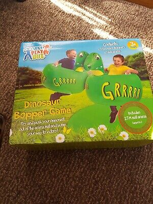 Kids Inflatable Bumper Game Dinosaur Bopper Game 2 Pack Outdoor Fun • 19.99£