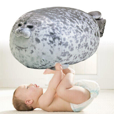 Chubby Blob Seal Plush Toy Animal Cute Ocean Pillow Pet Stuffed Doll Kids Gift • 15.60£