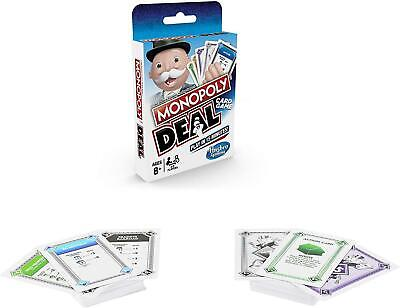 Monopoly Deal Card Game Fast-Dealing Property Trading Game Family Travel • 5.49£