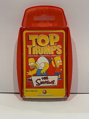 The Simpsons TOP TRUMPS 2001 • 4.99£