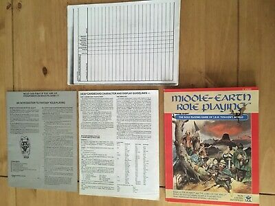 Middle-Earth Role Playing Boxed Set Middle-Earth MERP RPG ICE 2nd Edition 1986 • 13.50£