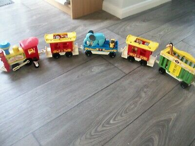 Vintage 70's Fisher Price Circus Train With Animals • 15£