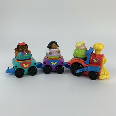 Vintage/ Retro Weeble Train By Hasbro - X3 Characters - Shape Inserts - 2000  • 19.99£