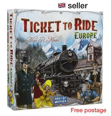 Ticket To Ride EUROPE Board Game Days Of Wonder 2-5 Player Train Adventure P&P • 23.79£