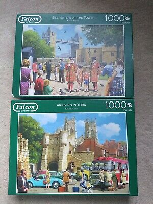 Two 1000 Piece Falcon Jigsaws - Beefeaters At The Tower And Arriving In York  • 10£