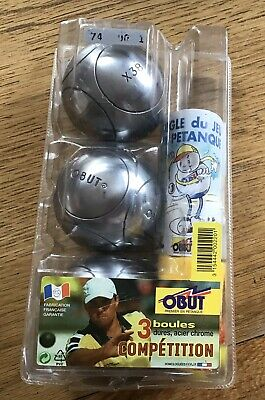 New Abut Steel Competition Standard Boule / Petanque 3 Ball Set • 19£