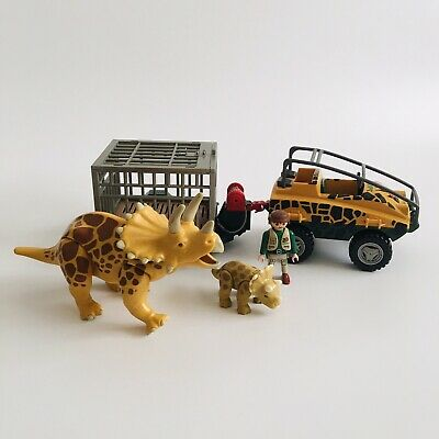 Playmobil Dinosaur Vehicle Jeep Set With Figure Triceratops Family Toy  • 28.50£