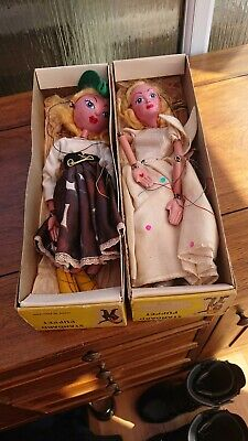 Vintage Pelham Puppets Dutch Girl And Angel With Boxes  • 30£