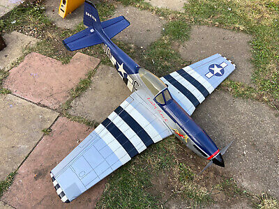 Rc Plane Ripmax P51 Mustang With Brushless Setup Rx Ready • 67£